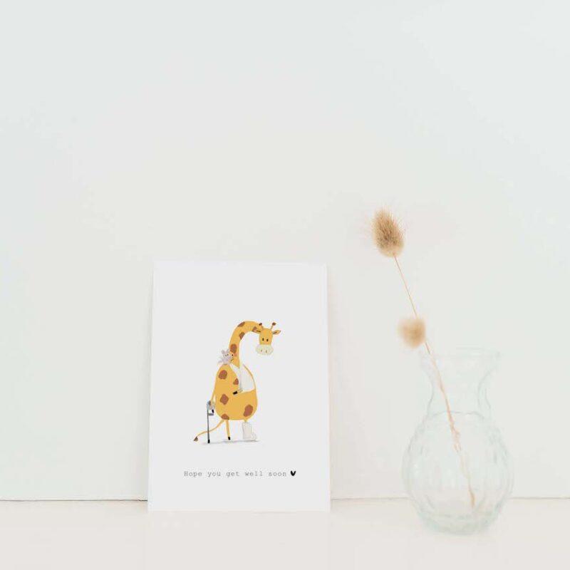 Hope you get well soon – Giraffe en Muis