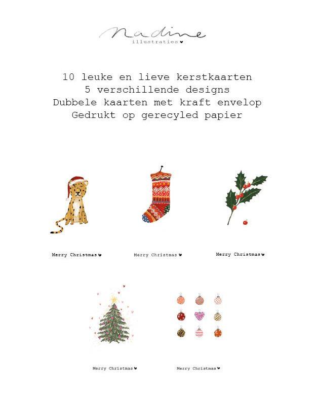 Doos met 10 kerstkaarten