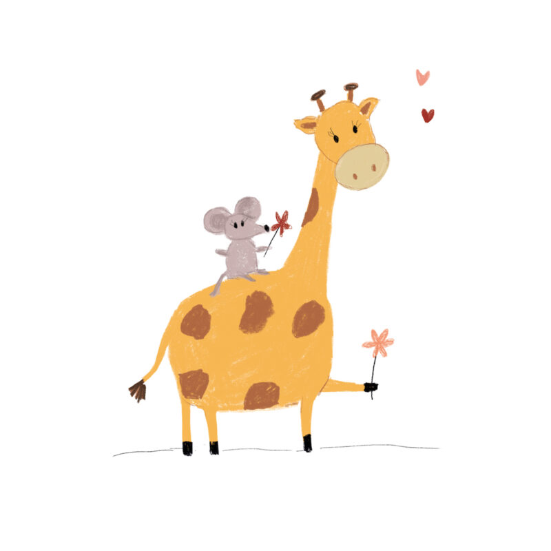 Giraffe en Muis : For you