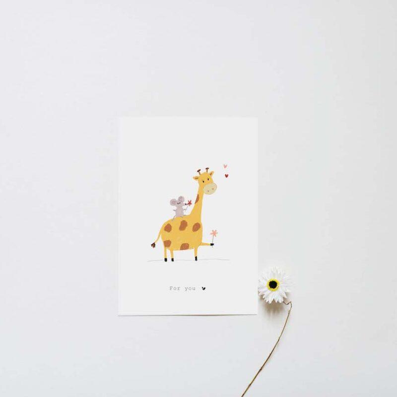 Giraffe en Muis : For you